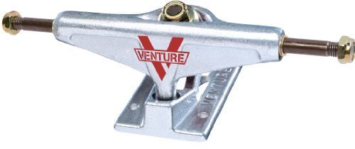 Venture 5.25 Hi Polished Skateboard Truck (Silver, Set of 2) by Venture