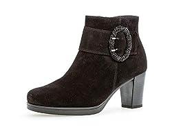 Gabor Damen Ankle Boots 32.862, Frauen Stiefelette,Stiefel,Halbstiefel,Bootie,knöchelhoch,Reißverschluss,schwarz (Micro),38 EU / 5 UK