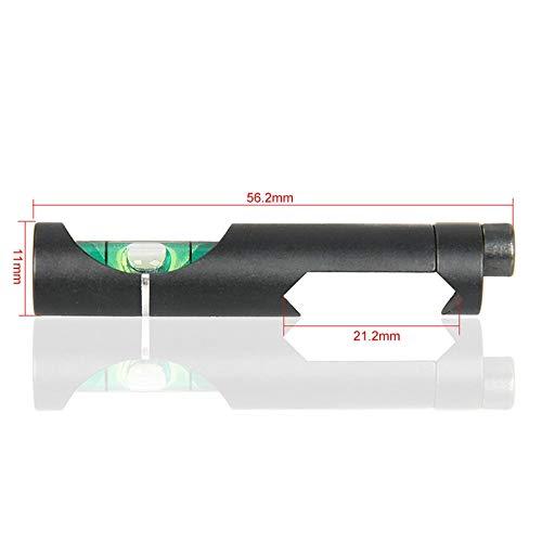 LSHBAO-HUNT, Tactical/Airgun Scope Alloy Wasserwaage Bubble für 21,2 mm Zielfernrohr Rail Weave/Picatinny On Hunting Gun Scope