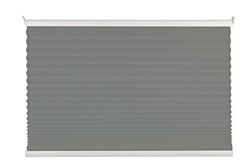 mydeco® 100x130 cm [BxH] in hellgrau - Plissee Jalousie ohne bohren, Rollo für innen incl. Klemmträger (Klemmfix) - Sonnenschutz, Sichtschutz für Fenster