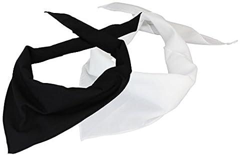 Lot de 2 Foulard Triangle en noir/blanc