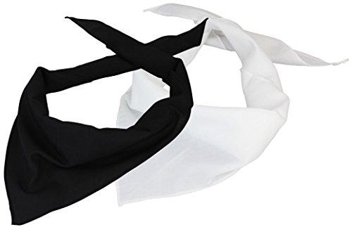 2er Pack Dreieckstuch in schwarz/weiß