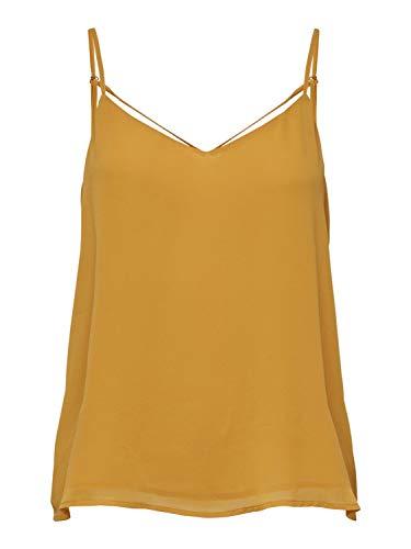 ONLY NOS Onlmoon SL Top Noos Wvn Camiseta, Amarillo Mango Mojito, 38 (Talla del Fabricante: 36.0) para Mujer