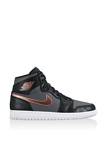 Nike Air Jordan 1 Retro High, Scarpe da Basket Uomo, Blu, Talla Rosso/Argento