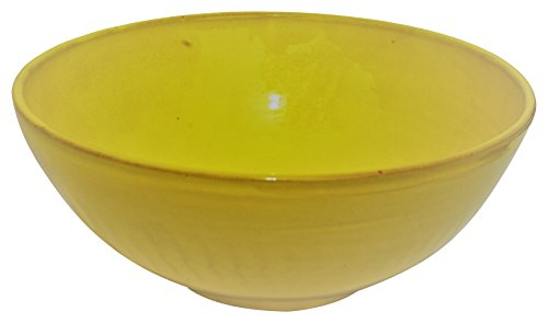 Amazing Cookware Terracotta 28cm deep Bowl, Yellow