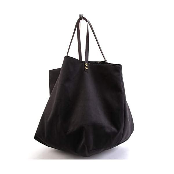 Black velvet tote bag in black with golden dots - handmade-bags