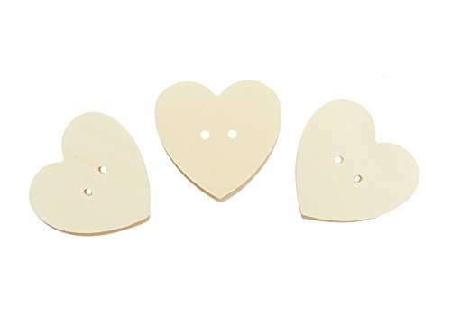 Buttons Holz in Form von Herzen für DIY 12 PCS (Holz Herzen Buttons)