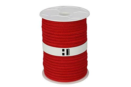 Hummelt® SilverLine-Rope Baumwollseil Baumwollkordel (H) 10mm 50m rot auf Rolle