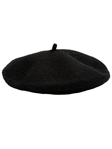 sische Mütze Cap Artist Wollmütze für Kinder Kinder Mädchen (Schwarz) (Maler Hüte)