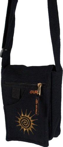 Guru-Shop Kleine Schultertasche, Herren/Damen, Baumwolle, Alternative Umhängetasche, Handtasche aus Stoff Grün