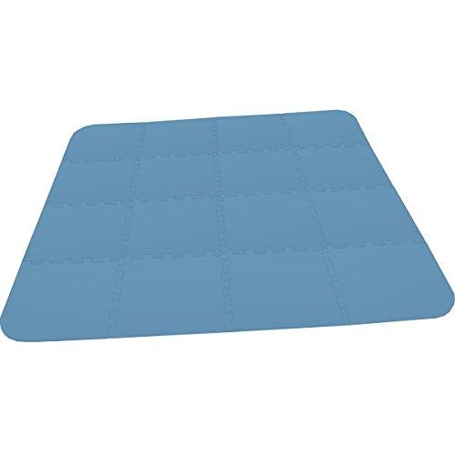 Preisvergleich Produktbild Bodenmatte Puzzlematte UNO Plus (16 Teile) blau - 16 mm - 0+