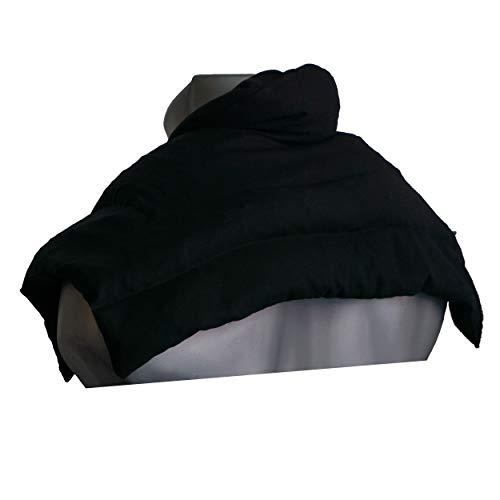 Rapssamenkissen Schulter & Nackenkissen mit Kragen | dunkelblau | Wärmekissen Körnerkissen Wärme-Nackenkissen