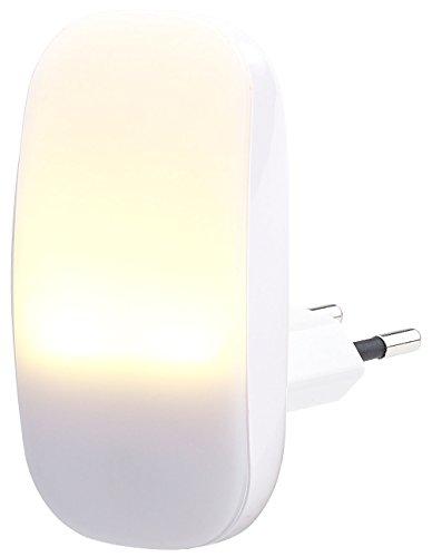 Lunartec Nachtlampe: Kompaktes LED-Steckdosen-Nachtlicht, Dämmerungssensor, 1 lm, 0,25 W (Nacht-Licht) (- Licht)