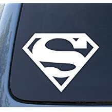 Bumper Sticker / Decals SUPERMAN - 127mm WHITE DECAL - DC Comics - Car, Truck, Notebook, Vinyl Decal Sticker