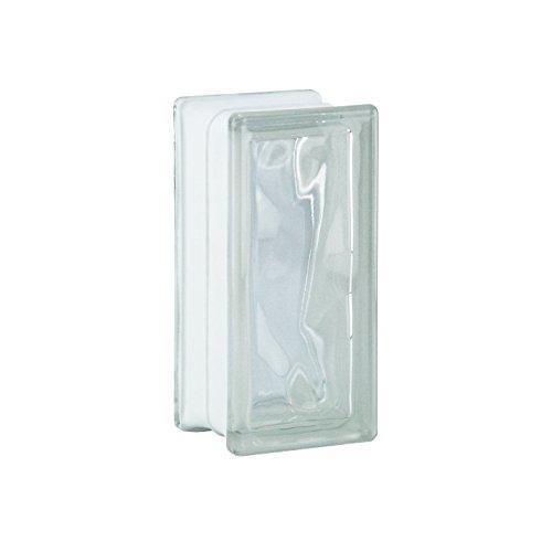 6 piezas BM bloques de vidrio nube SUPER white 19x9x8 cm - Medio bloqu