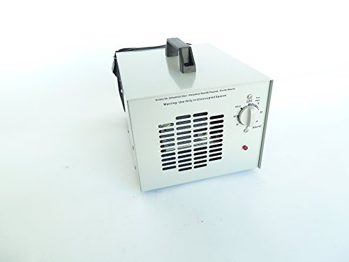 Professional Ozone Generator Ozone 15000mg/H with Timer and suitable for continuous operation. Model CHM 1500. Dimensions (L x W x H): 31.0x 23.0x 18.0cm. Certified by ROHS Contains No Danger and toxins and CE) and Tile (Corona Discharge Ozone Generator with UV Light.