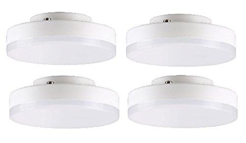 V-TAC ampoules LED GX537W–Lot de 4unités/550lm/45W Incandescent de remplacement–Blanc chaud 3000K/20000heures Durée de vie moyenne/NON Dimmable/230V–110° Angle de faisceau/SKU: 4437