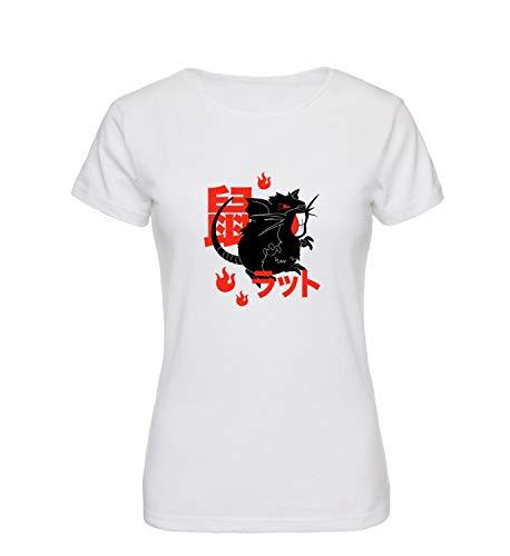 07a24246 Pokemon Rat Rattata Character T-Shirt Shirt Tshirt pour Les Femmes Femme  Amusant Cadeau de