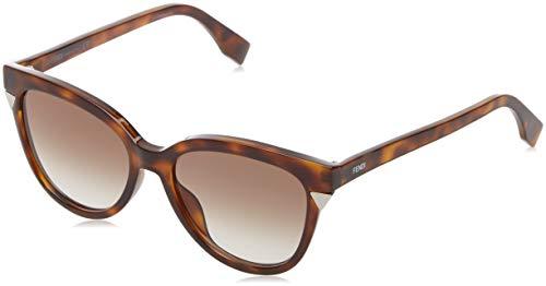 Fendi ff 0284/f/s jl 807 56 occhiali da sole, nero (black/bw brown), donna
