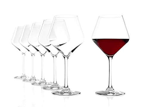 Stölzle Lausitz Revolution Burgundy Glasses,545ml, 6- piece set, highly functional red wine glasses, elegant Burgundy glasses