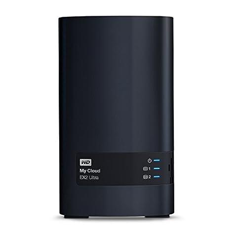 WD My Cloud EX2 Ultra 2 Bay NAS Festplatte 6TB Netzwerk-Speicher zum Streamen auf PC, Mobilgeräte, Spielkonsolen, Mediaplayer. Datensicherung für PC und Mac, externe Festplatte von Western Digital schwarz, WDBVBZ0060JCH-EESN