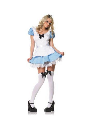 Leg Avenue Alice-Kostüm mit Strümpfe und Schleife, 1 ()