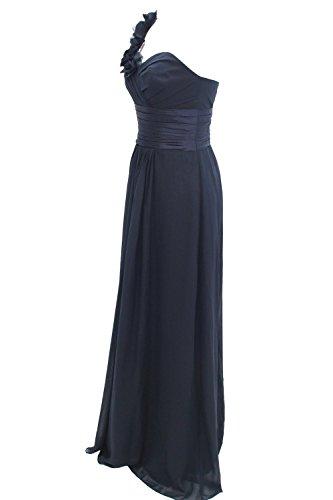 Dressystar Robe de demoiselle d'honneur/de soirée/bal Une Bretelle,en Mousseline Corail