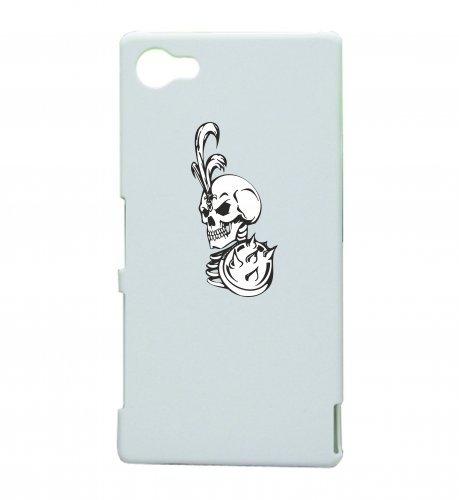 Smartphone Case teschio con piume alzarsi scheletro rocker Frecce Club Gothic Biker Skull Emo Old School per Apple Iphone 4/4S, 5/5S, 5C, 6/6S, 7& Samsung Galaxy S4, S5, S6, S6Edge,