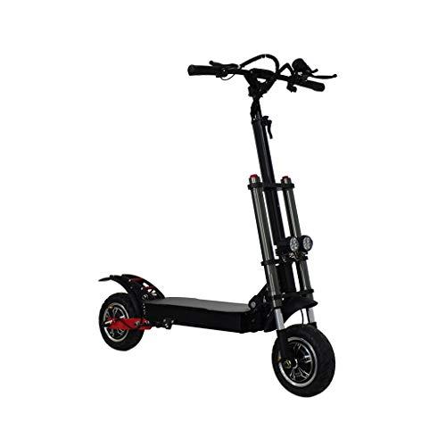 DE-BDBD Scooter Elettrico per Adulti 1600W Doppio Motore velocità Massima 80 Km/H Portatile Batteria al Litio Mini E-Scooter Front Drive Pieghevole 11In Tire Pendolarismo Motorizzati Scooters