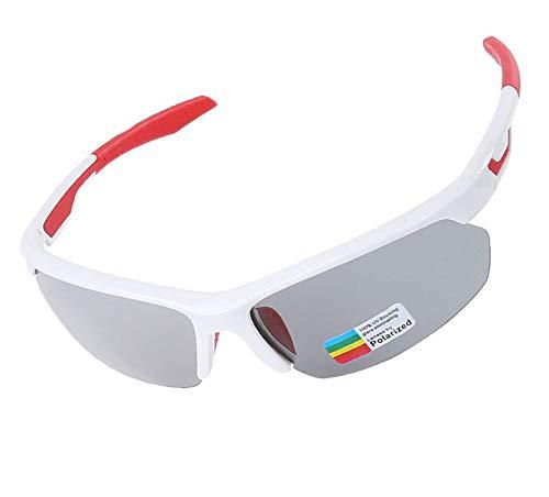 Gnzoe PC Radbrille Sonnenbrille Verfärbung Polarisierte Radbrille Sportbrille für Motorrad Fahrrad...