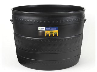 Stewart Patio Tub Planter, 50 cm - Gun Metal Black