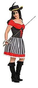 Folat 63323Pirata Disfraz de los años 60para Mujer (2Piezas, Pequeño/Mediano)