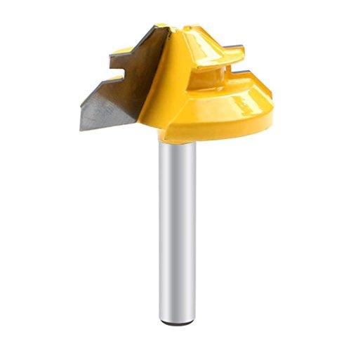 Royalr 45 Grad-Lock-Mitre Router Bit 1/4 Zoll Schaftholzverarbeitung Fräser Werkzeug Bohren Holz Karbidlegierung
