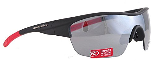 Rawlings 18 Mens Adult Sport Sunglasses SPT Wrap Adult Shades Black/Red 10211097