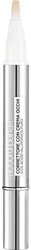 L'Oréal Paris Correttore Con Crema Occhi Accord Parfait, 0.5% di Acido Ialuronico, Illumina, Corregge e Ri