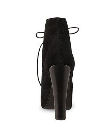 Stiefeletten Absatzschuhe der kurzen Wintermode sexy warme Pelzwölbungsfrauen Damen Stiefel Schwarz Wildleder