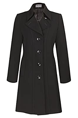 Busy Clothing Womens Black 3/4 Trench Coat Mac