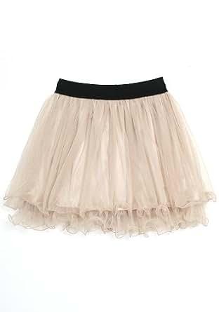 ililily Mini Tulle Skirt Tutu Ballet Multi-layered Ruffle Frilly Bridal Mesh Petticoat Skirt (skirt-003-5)