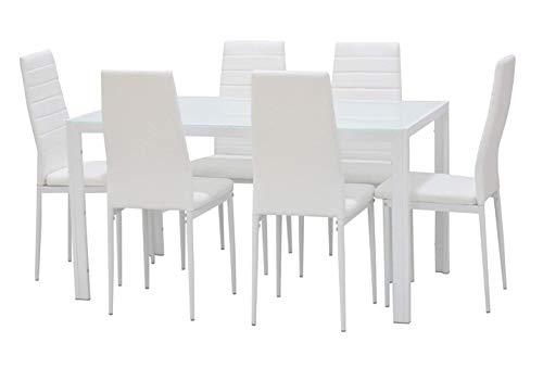 Sedie Sala Da Pranzo Ecopelle : Ebs set da pranzo set di sedie di moda ecopelle e tavolo in vetro