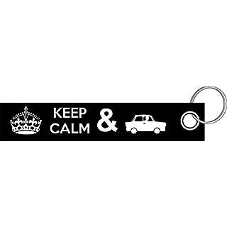 Shirtzshop Keep Calm Trabi Trabant DDR Auto Rennpappe Schlüsselanhänger Schlüsselband Keyholder Lanyard