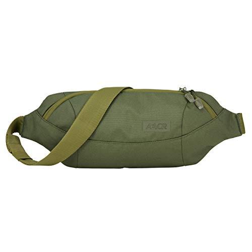 AEVOR Shoulder Bag - wasserabweisend, 3 Liter Volumen, Mesh-Innentasche, 2 Wege Zipper, größenverstellbarer Gurt mit Schnalle, Pine Green