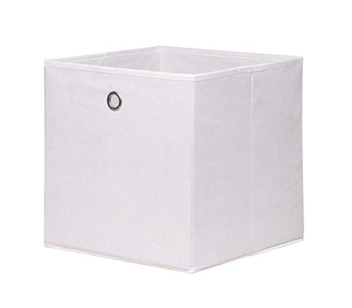 Allright 4tlg Möbel Akut Faltbox Faltkiste Faltbare Aufbewahrungsboxen mit Fingerloch 32 * 32 * 32cm (Weiß)