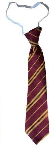 (Wizard Tie Schuluniform, gestreift, 3 Größen, Kastanienbraun/goldfarben, Acryl, grau, Elasticated)