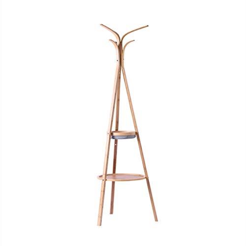 Ainaobaoybz Garderobenständer Baumform,Kleiderständer, Bamboo Coat Rack, Coat Tree, Kleidung, Hut, Tasche, Holzfarbe |Bodengarderobe, hängende Kleiderständer - Tree Coat