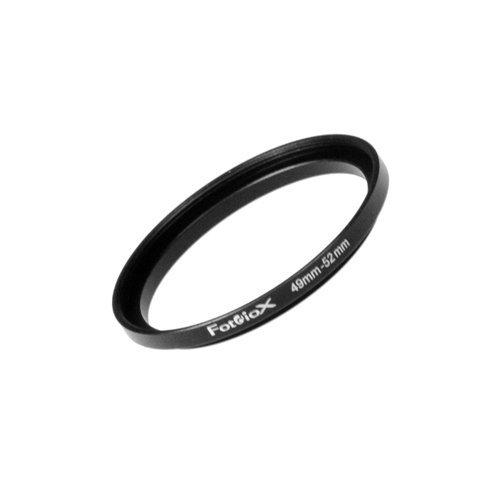 Fotodiox Metall Step Up Filteradapter Ring, eloxiert Schwarz Metall 49mm-52mm 49-52 -- Objektivgewinde auf Filtergewinde