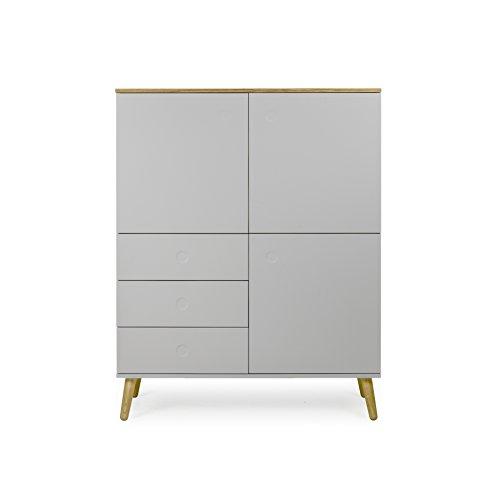 Designer-schrank (Tenzo 1666-612 Dot Designer Schrank Holz, grau / eiche, 43 x 109 x 137 cm)