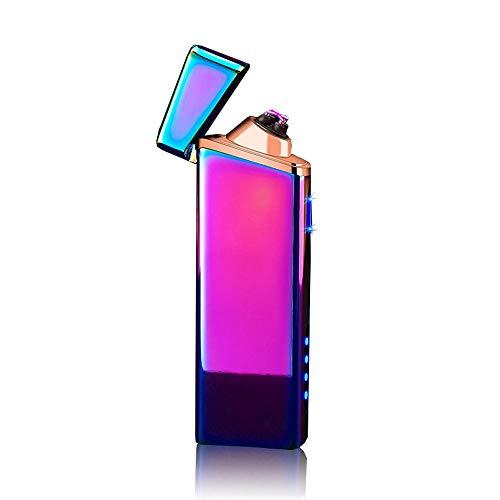 s Plasma-Feuerzeug, TEEPAO Cool Windproof Feuerzeug mit Sicherheitsschalter Beam Lighter, Mehrzweck-elektrisches Feuerzeug für Kerze BBQ, Camping, Gas, Herd, Kamin bunt ()