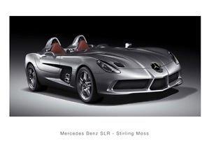 Mercedes-Benz SLR Portapassaporto Stirling Moss-Poster formato A4