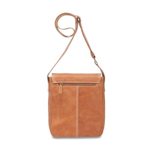 PICARD Outback Umhängetasche Damenhandtasche | Büffelleder | 23cm x 28cm x 7cm | Cognac
