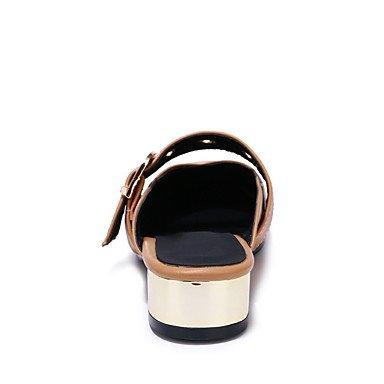 LQXZM Sandales femmes Lumière Confort Slingback similicuir semelle extérieure d'été décontracté Talon Robe Boucle Amande Beige Noir Blanc1en 1 Almond